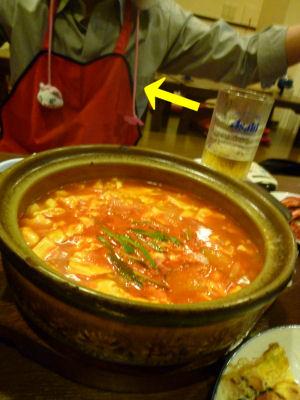 〆のチゲ豆腐?