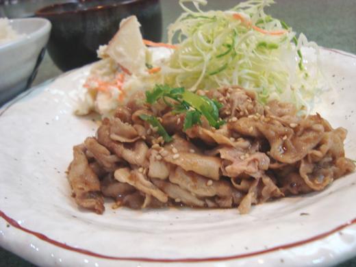 生姜焼きランチ