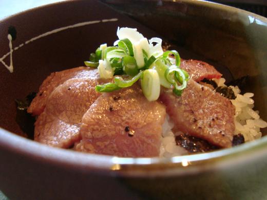 炙り丼セットの試食②