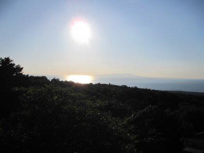 大島が見えるでつ
