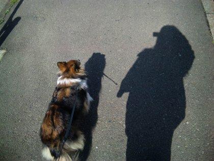 ママの影がかおなしみたいになってるでつよぉ