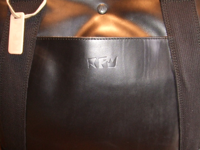 RFW LEATHER&CANVAS MID TOTE BK&BK PT