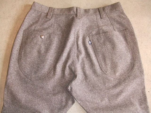 TO CROPPTO PANTS BROWN BK