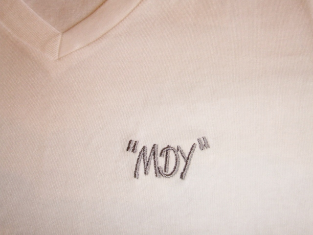MDY V NECK LONG REEVE TEE 刺繍
