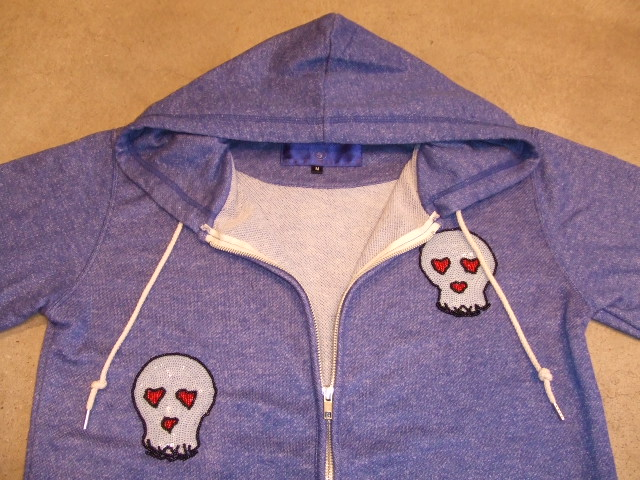 HALFMAN SEQUENCE HOODIE BLUE FT1