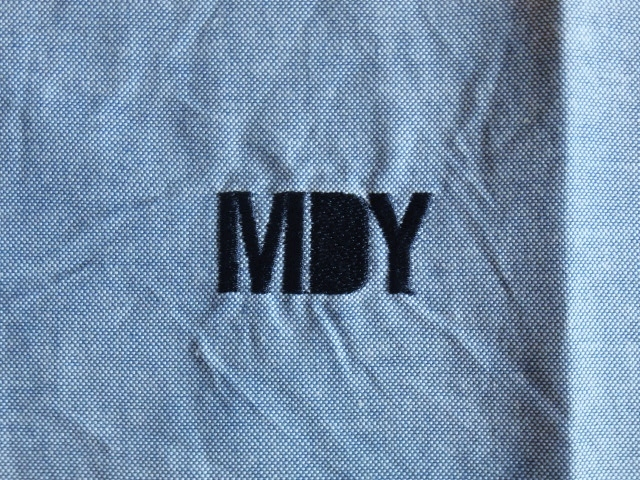 MDY DANCE OXFORD SHIRTS BLUE LG