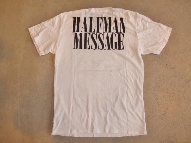 HALFMAN LOVE AND HATE SS TEE BK