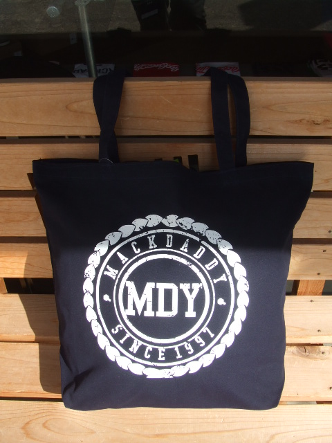 MDY CANVAS TOTE BAG BLACK