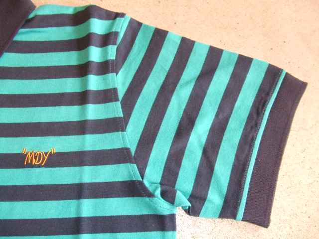 MDY BORDER POLO SHIRTS GREEN FT2