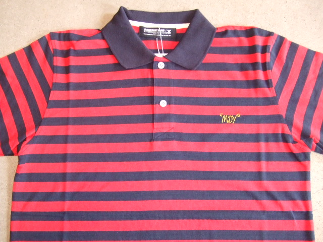MDY BORDER POLO SHIRTS RED FT1