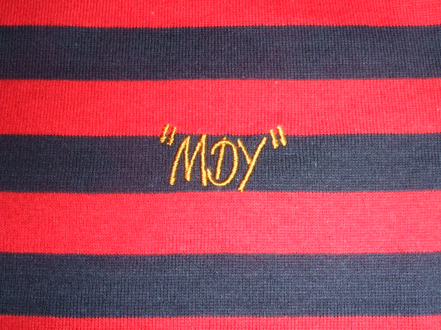 MDY BORDER POLO SHIRTS RED EB