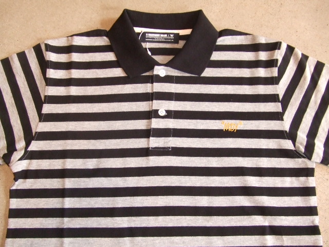 MDY BORDER POLO SHIRTS BLACK FT1