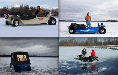 ice fish car