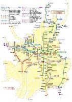 歩くまち・京都フリーパス区域図