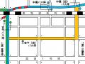 宮下・中尾バス停迂回図