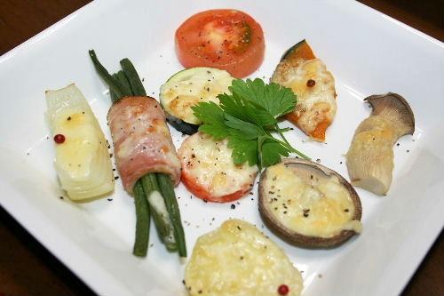 野菜のチーズ焼き
