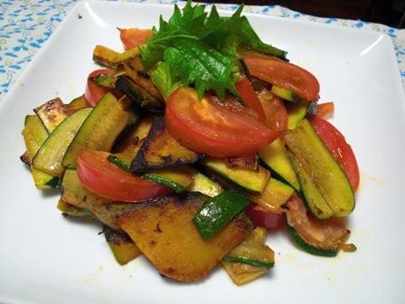 冷い夏野菜炒め
