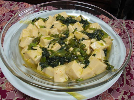 小松菜とお豆腐のとろとろ