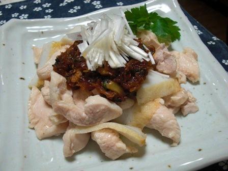 お野菜の辛ミソで鶏とさつま揚げ