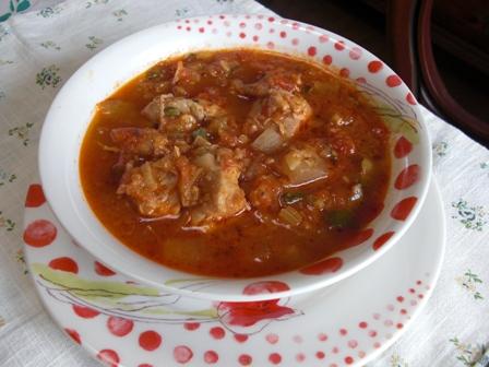 鶏と野菜のトマト煮込み