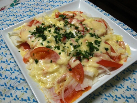 長芋トマトのチーズ焼き
