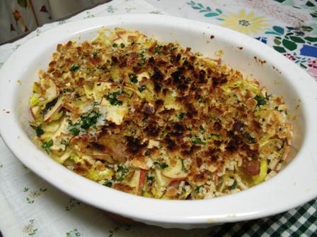 豚肉さつま芋リンゴのオーブン焼き