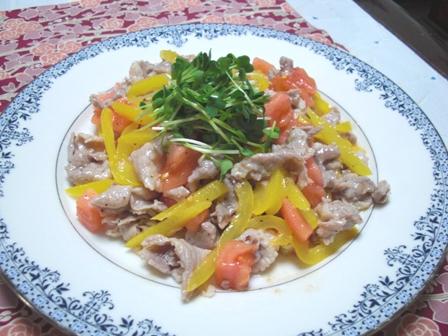豚肉のサラダ