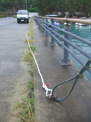 船置場ロープ