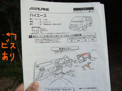 車種別取り付け情報