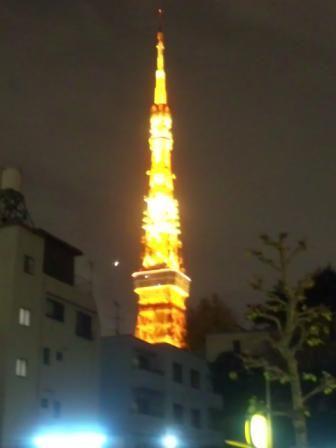 神谷町からみる東京タワー