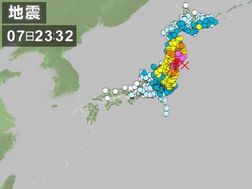 東日本大震災余震(2011.04.07)