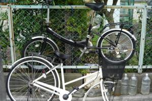 白黒自転車