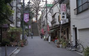 湯島天満宮前の階段