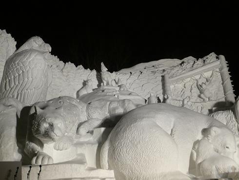夜の雪祭り