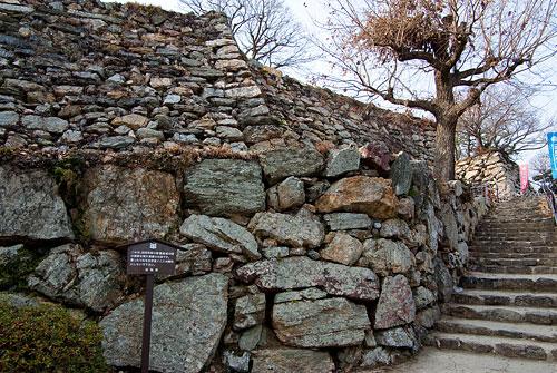 浜松城野面積みの石垣