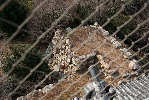 浜松城天守台を見下ろす