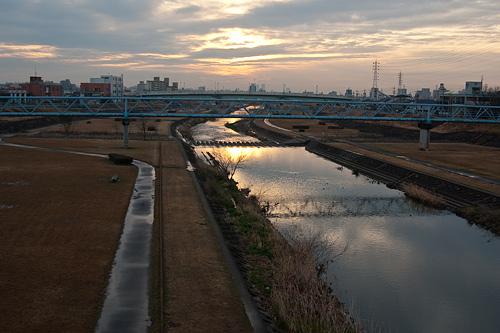 雨上がり河原-1