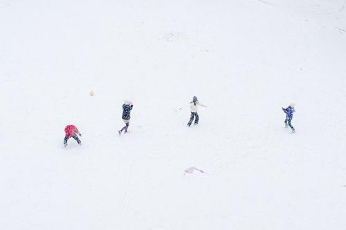 雪降り-1