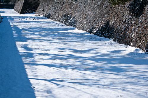 雪の名古屋城1-2