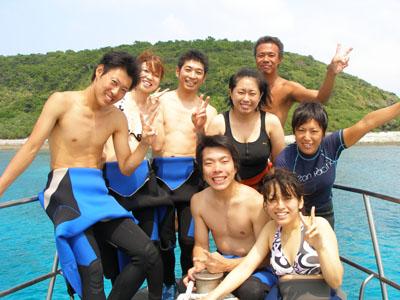 慶良間諸島でダイビング!