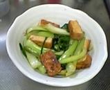 青梗菜と厚揚げの炒め物