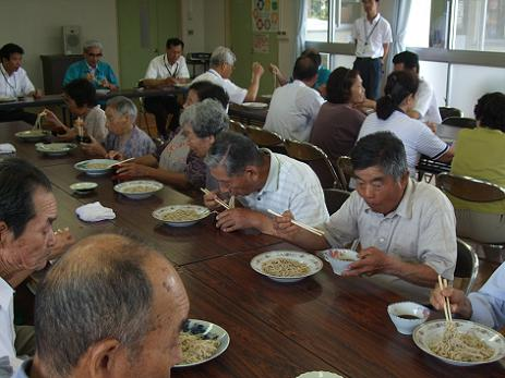 2011春ソバ試食会 全景