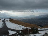 雪の阿蘇大観峰