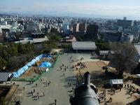 熊本城から眺める熊本の町並み