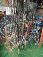 釣り竿がいっぱい