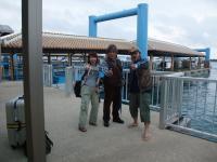 石垣港でロビンソンとイェーィ