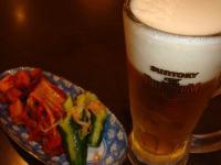 焼肉金城 ビールとキムチ