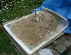 一冬越えた粘土