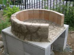 下段燃焼室の外側補修