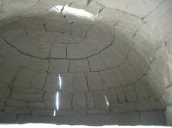 乾燥後の窯内側